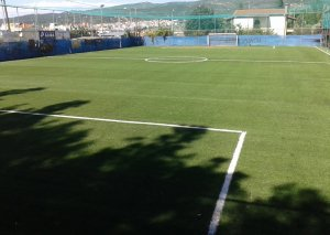 Soccer fied with artificial turf