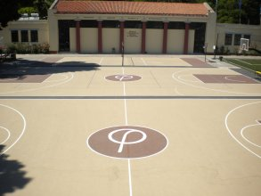 Basketball and Volleyball court floorings construction