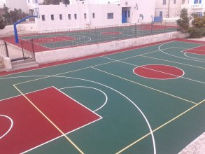 Acrylic courts for basketball - volleyball