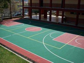 Γήπεδο μπάσκετ με ακρυλικά υλικά