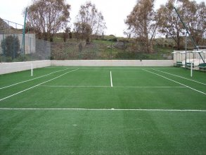 Construction of artificial turf for tennis