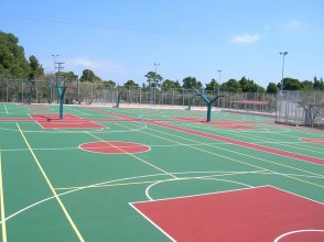 Basketball courts construction