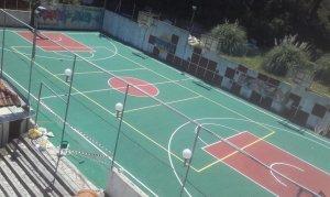Κατασκευή γηπέδου μπάσκετ-ελαστικού δαπέδου