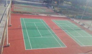 Βαφή γηπέδων tennis