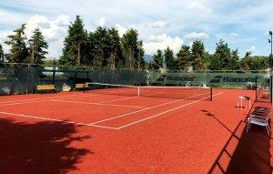 Γήπεδο τέννις με συνθετικό χλοοτάπητα 20mm, με πιστοποίηση ITF, κεραμιδί
