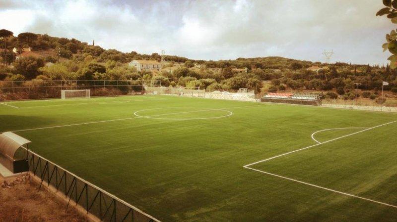Κατασκευή γηπέδου ποδοσφαίρου  με monofilament