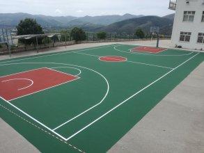 Κατασκευή γηπέδου Μπάσκετ με ελαστικό ακρυλικό τάπητα