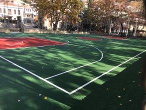 Κατασκευή γηπέδου Μπάσκετ με ακρυλικά ελαστικά υλικά