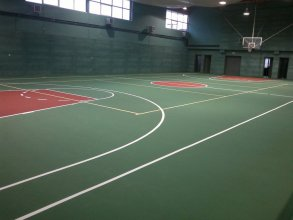 Basketball court construction of indoor gym