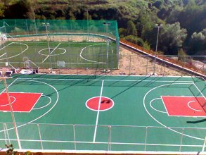 Κατασκευή γηπέδου μπάσκετ - γηπέδου ποδοσφαίρου