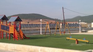 Artificial turf of playground