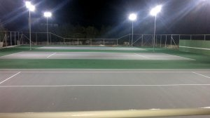 Tennis courts construction