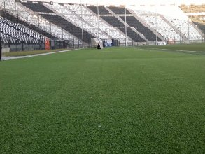 Artificial turf construction in the stadium of Toumpa- FC PAOK
