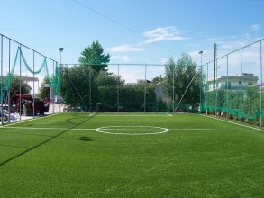 Court construction with artificial turf 60mm