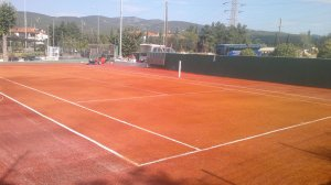 Tennis court construction with arificial turf 18mm (ITF), Pilea, Thessaloniki