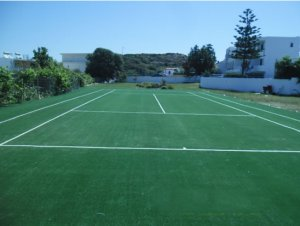 Artificial grass 20mm, with ITF certification, for tennis courts
