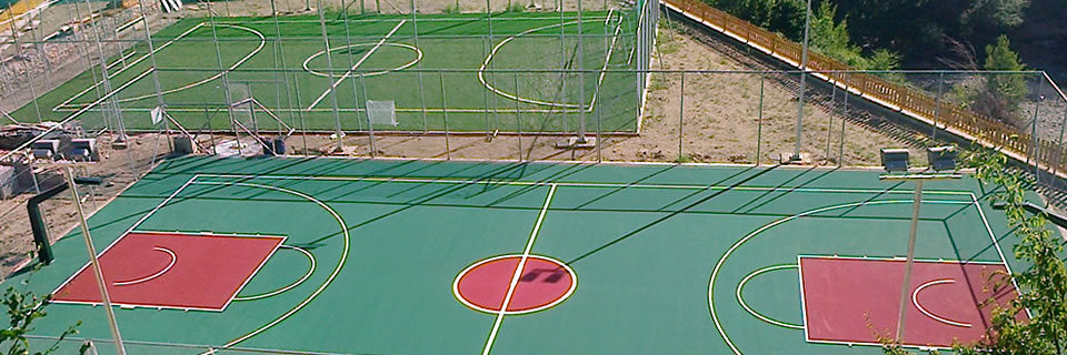 Basketball court - Soccer field with artificial turf, Xanthi