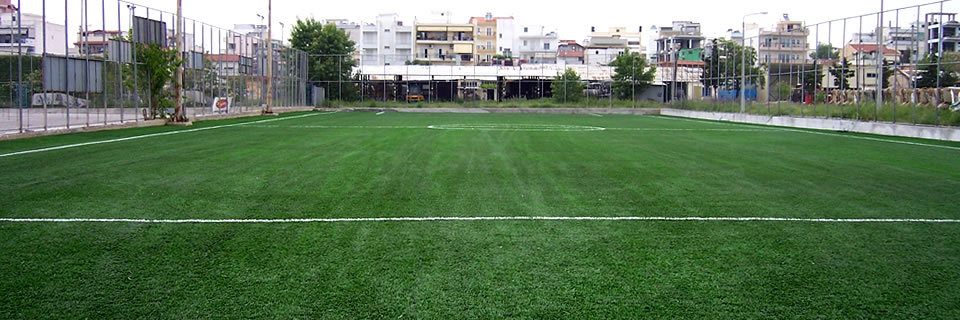 Artificial turf for soccer field, Evosmos, Thessaloniki