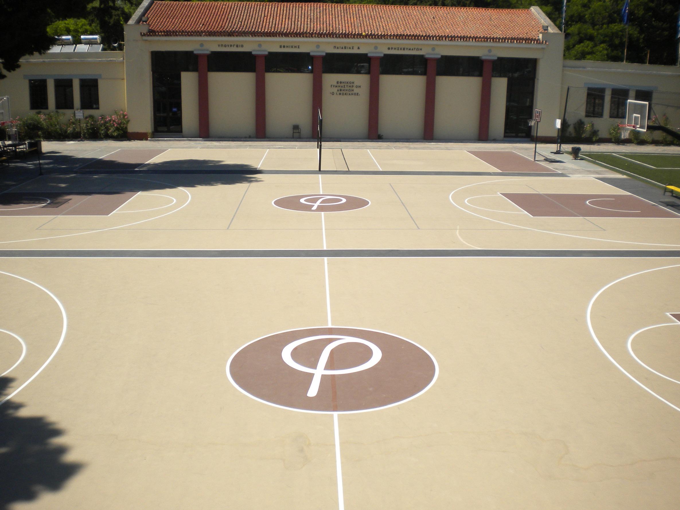Κατασκευή γηπέδων μπάσκετ και βόλλεϋ