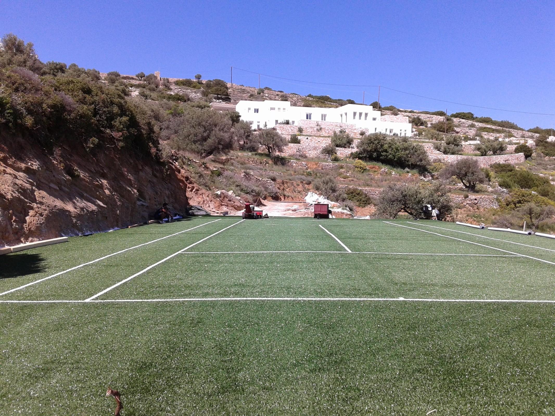 Συνθετικός χλοοτάπητας τέννις