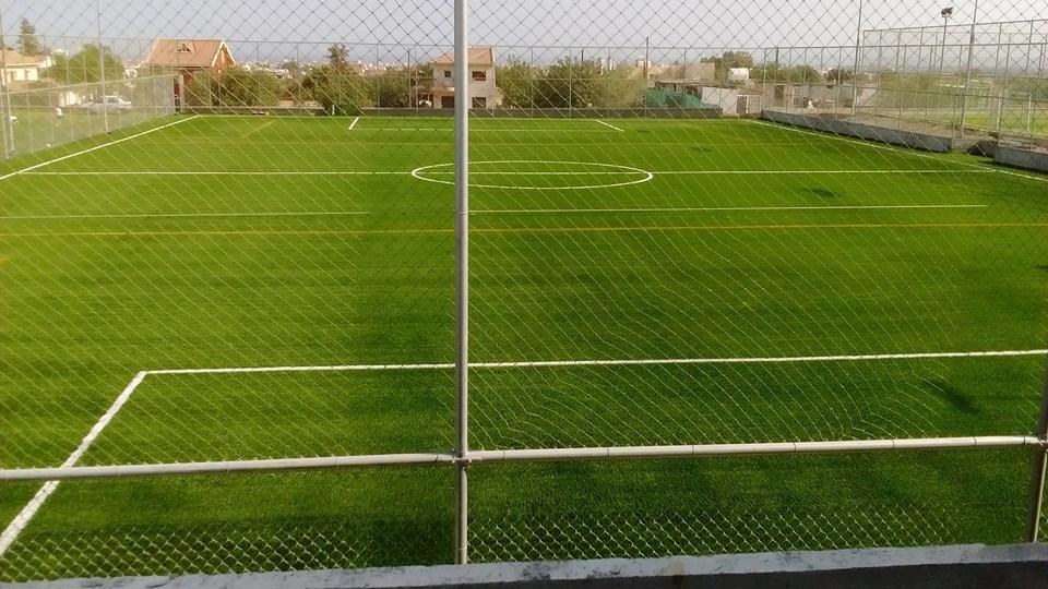 Κατασκευή χλοοτάπητα FIFA