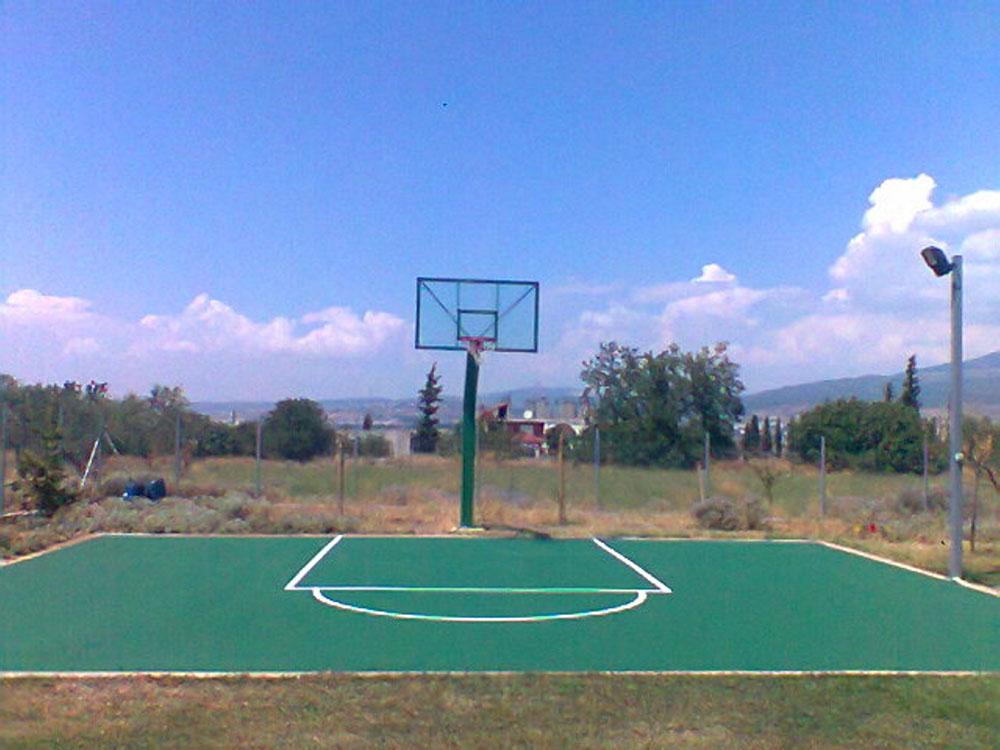 Κατασκευή δαπέδου μπάσκετ