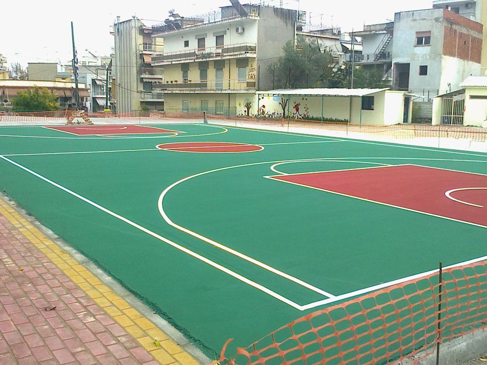 Ακρυλικός ελαστικός τάπητας γηπέδου μπάσκετ