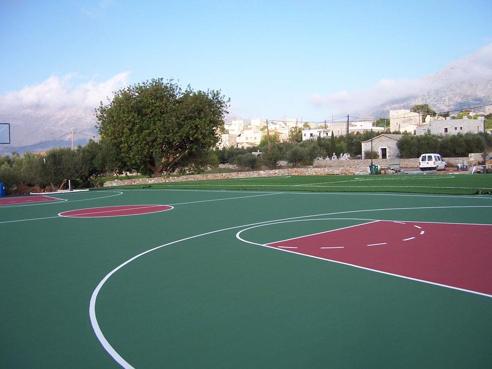 Ελαστικός τάπητας γηπέδου μπάσκετ