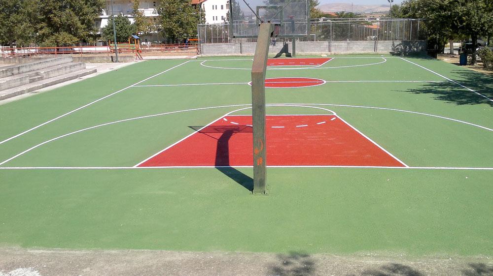 Ακρυλικό δάπεδο μπάσκετ