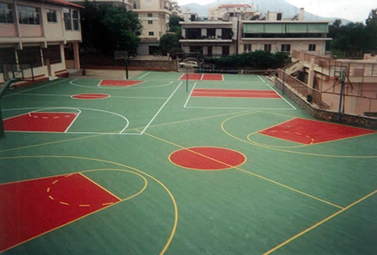Μπάσκετ - βόλεϊ - τένις  ακρυλικός τάπητας εξωτερικού χώρου 2-4mm
