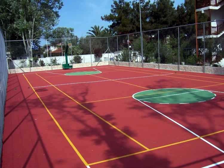 Μπάσκετ-τένις βαφή εξωτερικού χώρου