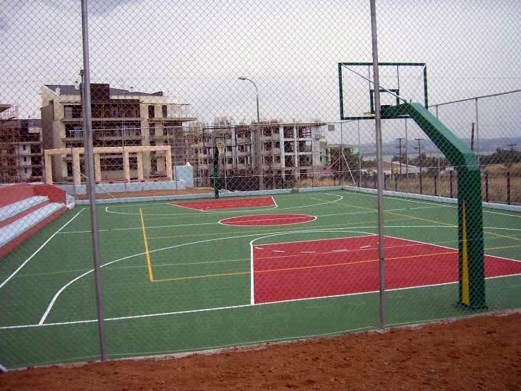 Μπάσκετ - βόλεϊ ακρυλικός τάπητας εξωτερικού χώρου 2-4mm
